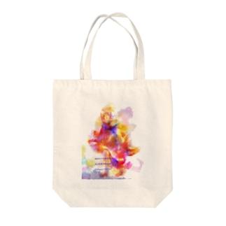 カラフル女の子* イラスト アート  Tote bags