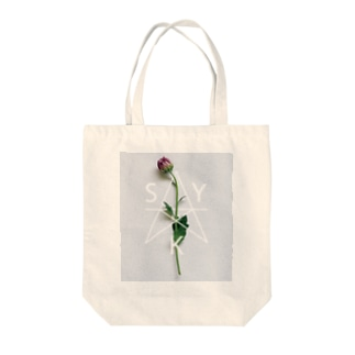 シンプルグレイッシュ Tote bags