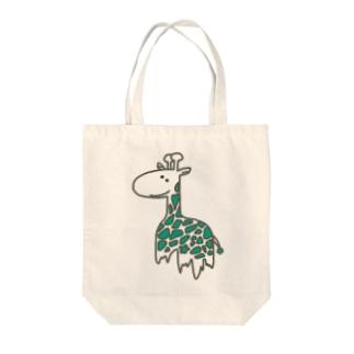 きりんおばけ(白みどり) Tote bags