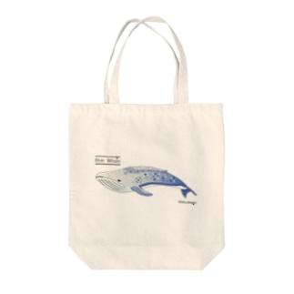 夢見るシロナガスクジラ Tote bags