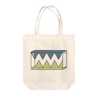 歯型 Tote bags