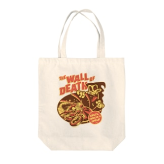 the Wall of Death : Brown / Orange  Tote bags