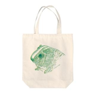 緑と黄色のモルモット Tote bags