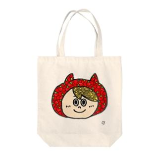 かぶりものくん(イチゴとレモン) Tote bags