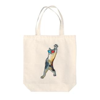 3Dメガネをかけた猫 Tote bags