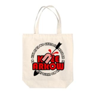 KNEE ARROW Tote bags