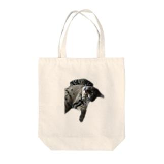 むぎちゃん Tote bags