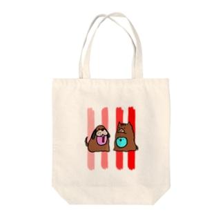 戌と亥のバトンタッチ Tote bags