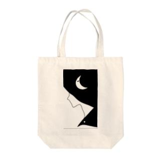 和装【月】 Tote bags