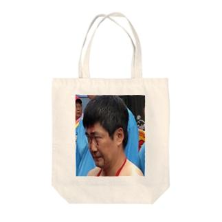 流血おじさん Tote bags