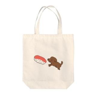 犬すし Tote bags