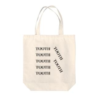 Tooth logo よく見ると歯の形 トートバッグ