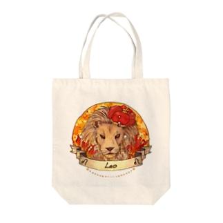獅子 Tote bags