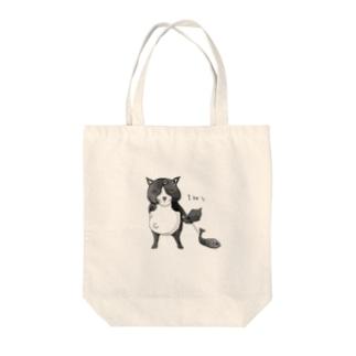 ハチワレハッチ Tote bags
