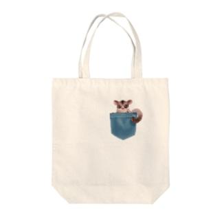 ポケットモモンガ Tote bags