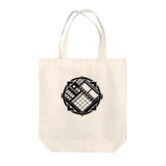 ワンポイント家紋(指太鼓) Tote bags