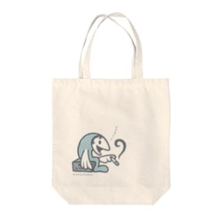魚おじさん Tote bags