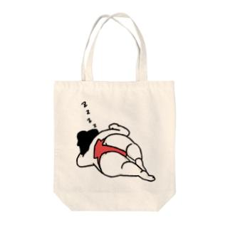 居眠りお相撲さん(赤) Tote bags