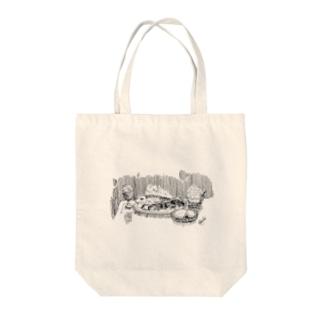 お魚のサパー Tote bags