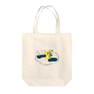 夜のお散歩 Tote bags