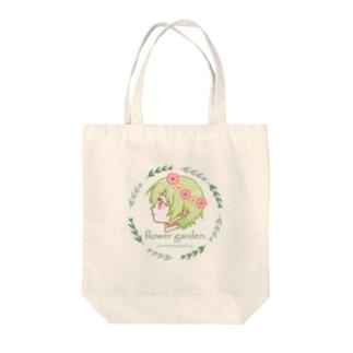 フラワーガーデン[ロゴタイプ] Tote bags