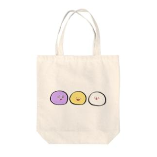 三色おまんじゅう Tote bags
