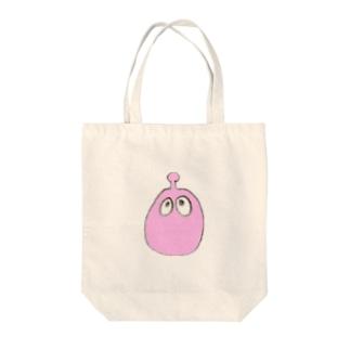 ぽにゃぽにゃ。ピンク。 Tote bags