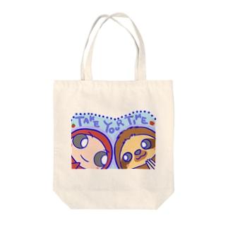 だるまちゃんとナマケモノ(青) Tote bags