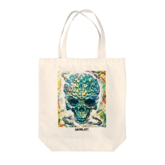 MAD SKULL Tote bags
