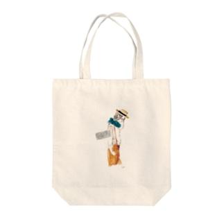 サスペンダー Tote bags