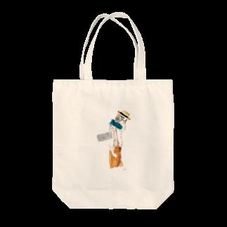 佳矢乃のサスペンダー Tote bags