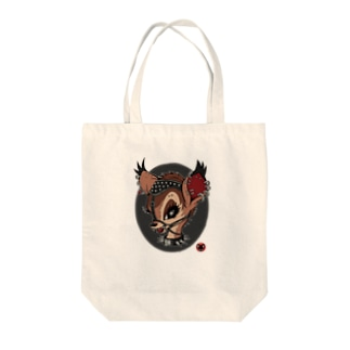 口枷バンビ/トート Tote bags