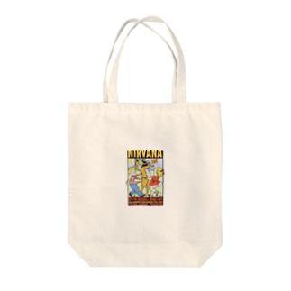 nirvana Tote bags