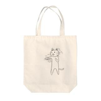 ボクサー猫 Tote bags
