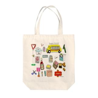 世界のポスト Tote bags