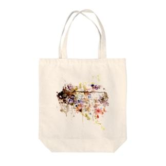 【不幸中の水彩】 Tote bags