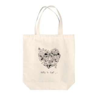 Life is Cat Tote bags