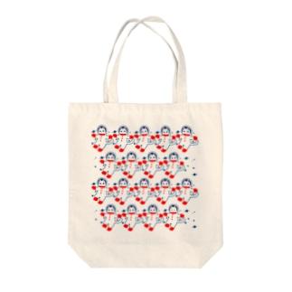 宇宙フォークダンス Tote bags