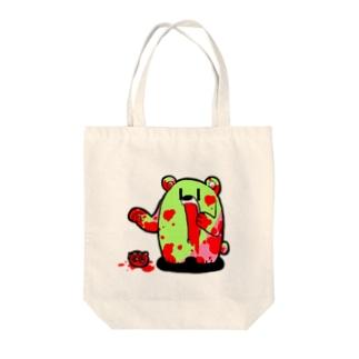 ザクロ大好きひぐまくん(けいこう) Tote bags