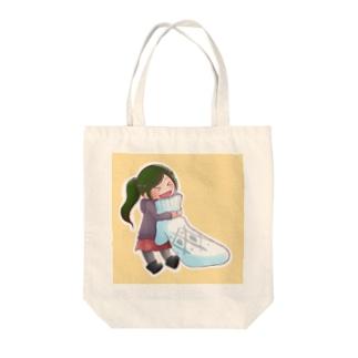 かたっぽミトンちゃん Tote bags