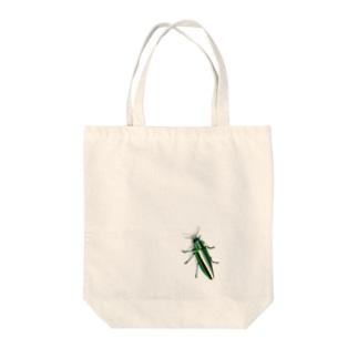 いたずらデザイン(ちょっとタマムシついてますよ) Tote bags