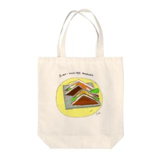 半熟目玉焼きサンドイッチ Tote bags