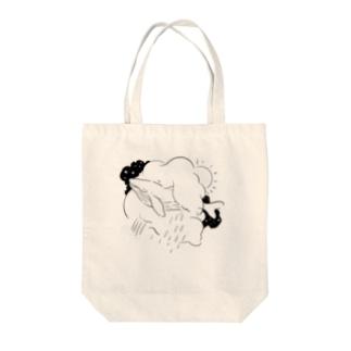 くじらちゃん Tote bags