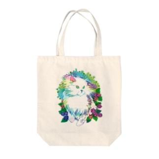Cat & Razberry Tote bags