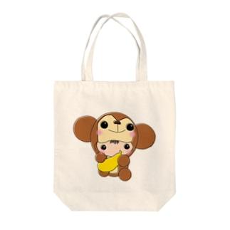 バナナ大好き♡おサルの着ぐるみベビーちゃん Tote bags