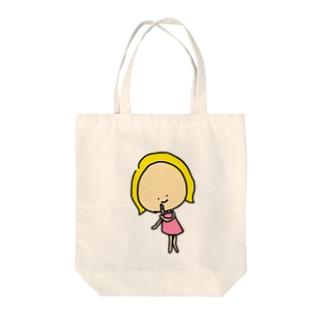 お化粧キャシー Tote bags