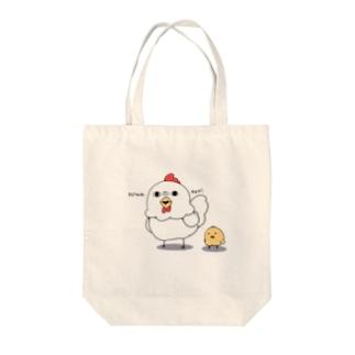 niwatori Tote bags