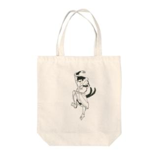 踊るハチワレニャンコ Tote bags