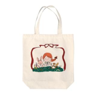 お花の楽園 Tote bags