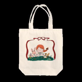 はしもとりーさんのお花の楽園 Tote bags